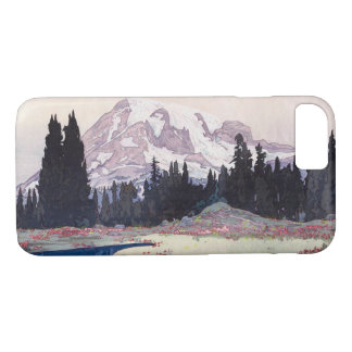 レーニア山, le mont Rainier, Hiroshi Yoshida, gravure Coque iPhone 7