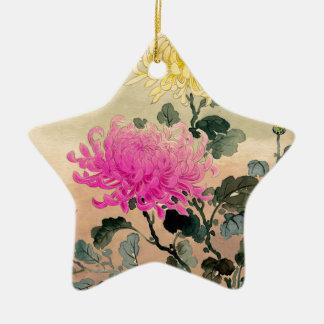 土屋光逸 de Tsuchiya Koitsu - 菊 de chrysanthème Ornement Étoile En Céramique