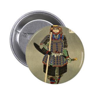 山中幸盛 samouraï de Yukimori de guerrier - 月岡芳年 de Badge Rond 5 Cm