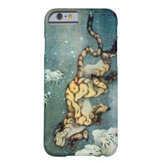 雪中虎図, 北斎 Tijger in de Sneeuw, Hokusai, Art. Barely There iPhone 6 Hoesje
