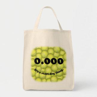 0,000, le début parfait, c'est une chose de chien tote bag
