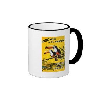 1000 milles vers le haut de l'affiche vintage de mug ringer