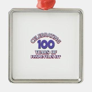 100 ans d'enfer de augmenter ornement carré argenté