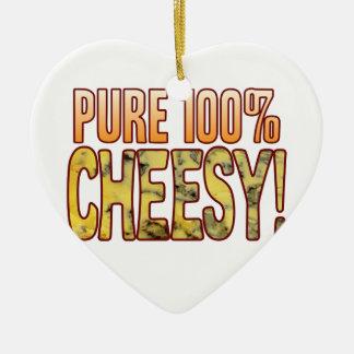 100 de fromage bleus purs ornement cœur en céramique