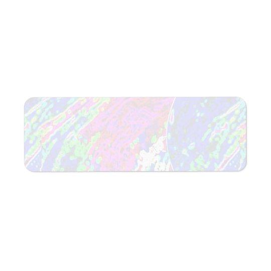 100 nuances :  Motifs mous artistiques de couleur Étiquette D'adresse Retour
