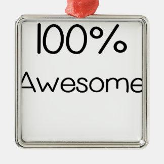 100 pour cent Awesome.png Ornement Carré Argenté