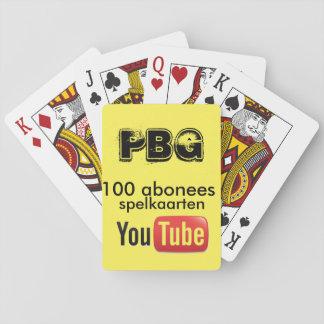 100 sous les cartes de jeu cartes à jouer