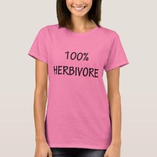 100% T-shirts herbivores des femmes drôles