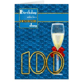 100th anniversaire - carte d'anniversaire