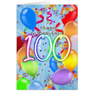 100th anniversaire - carte d'anniversaire de