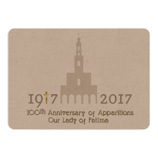 100th Anniversaire des apparitions - Fatima Carton D'invitation 12,7 Cm X 17,78 Cm