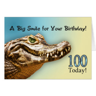 100th Carte d'anniversaire