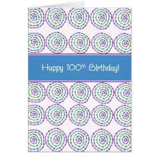 100th carte d'anniversaire heureuse