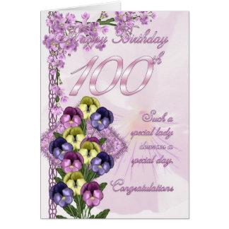 100th Carte d'anniversaire pour Madame spéciale