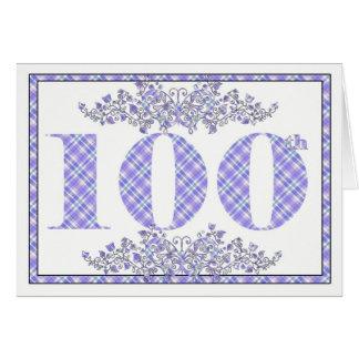 100th carte heureuse de guingan d'anniversaire