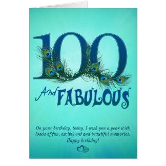 100th Cartes de modèle d'anniversaire