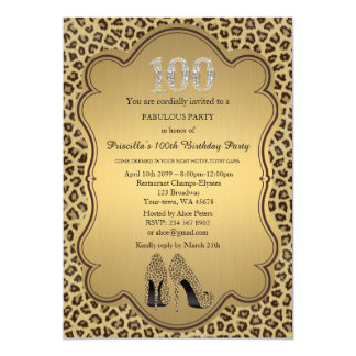100th Invitation d'anniversaire, diamants de