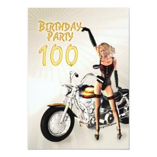 100th Invitation de fête d'anniversaire
