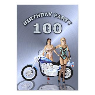 100th Invitation de fête d'anniversaire avec une