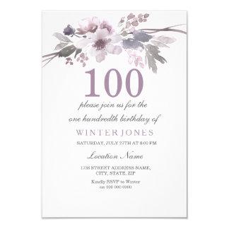 100th invitation floral assez pourpre de fête
