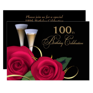 100th Invitations de coutume de célébration
