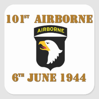 101st Airborne D-Day Normandy Sticker Carré