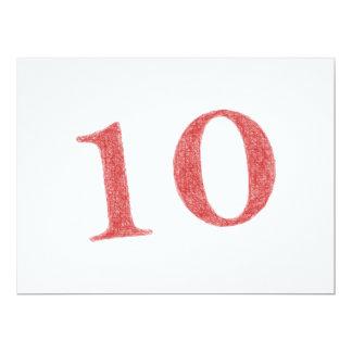 10 ans d'anniversaire carton d'invitation  16,51 cm x 22,22 cm