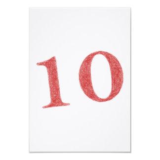 10 ans d'anniversaire carton d'invitation 8,89 cm x 12,70 cm