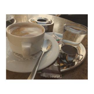 """10"""""""" art en bois du mur x8 - routine de café"""