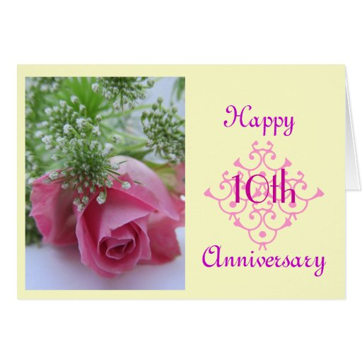 10de huwelijksverjaardag wenskaart