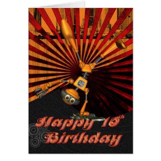 10ème Anniversaire, carte d'anniversaire de robot