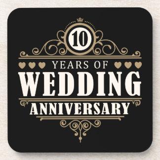 10ème Anniversaire de mariage Sous-bock