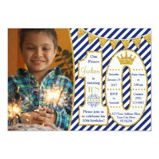 10ème anniversaire invitation de prince avec des