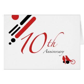 10ème Anniversaire (oiseaux de mod) Carte De Vœux