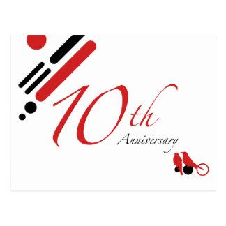 10ème Anniversaire (oiseaux de mod) Carte Postale