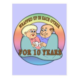 10ème Cadeaux d'anniversaire de mariage Cartes Postales