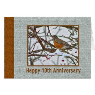 10ème Carte d'anniversaire avec Robin dans la