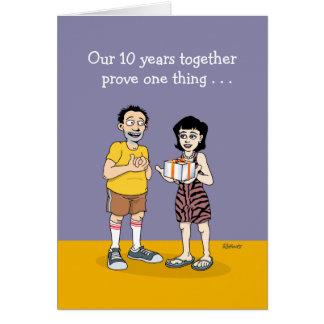 10ème Carte d'anniversaire de mariage : Amour