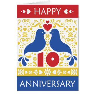 10ème carte heureuse d'anniversaire
