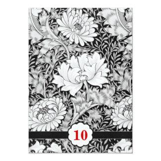 10ème damassé d'invitations d'anniversaire de carton d'invitation  12,7 cm x 17,78 cm