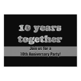 10ème Fête d'anniversaire | 10 ans ensemble Carton D'invitation 12,7 Cm X 17,78 Cm