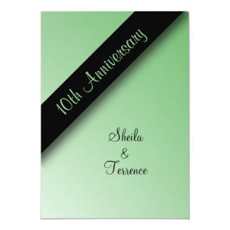 10ème Invitation d'anniversaire de mariage