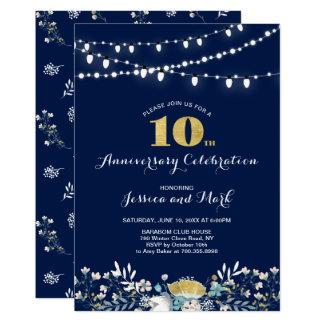 10ème invitation d'anniversaire de mariage de