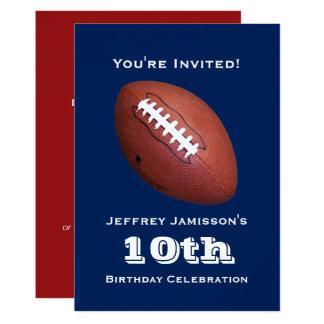 10ème Invitation de fête d'anniversaire, le