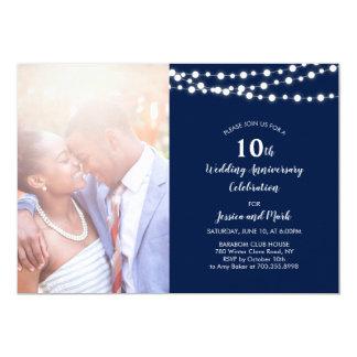 10ème invitation moderne d'anniversaire de mariage