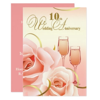 10ème Invitations de fête d'anniversaire de