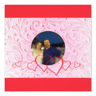 10ème Le rose d'anniversaire de mariage ajoutent Carton D'invitation 13,33 Cm