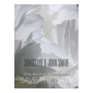 10èmes économies d'anniversaire de mariage de carte postale