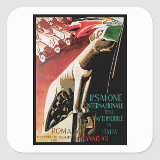 11ème ~ Roma d'automobile de Salone Internazionale Sticker Carré