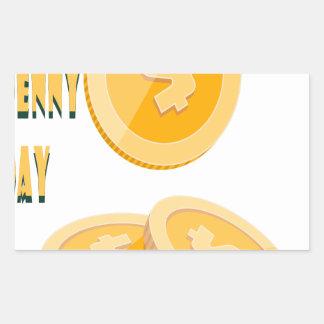 12 février - jour perdu de penny - jour sticker rectangulaire